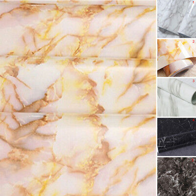 Self Adhesive Wall Sticker Decal DIY Marble PVC film Kitchen Home Room Decor New
