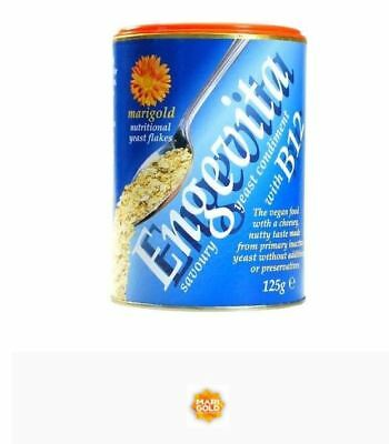 6 x 125g MARIGOLD Engevita Savoury Nutritional Yeast Flakes with B12 (Blue)