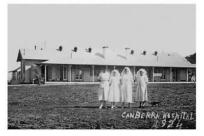 CANBERRA ACTON Canberra Hospital Ward Block Nurses 1924 modern digital Postcard