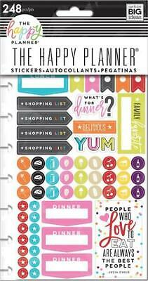 Happy Planner Stickers - What's For Dinner? MAMBI 5 Sheets pre-punched