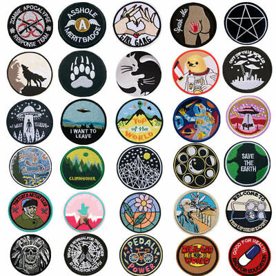 1pc Embroidery Sew Iron On Patch Badge Fabric Bag Hat Jeans Applique Craft DIY