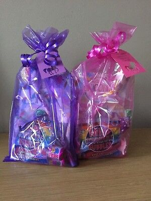 Pre Filled Girls Unicorn Birthday Party Bags & Thank You Tag Minimum Order Of 5