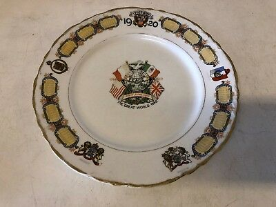 Antique Edwin and Taylor Knowles Great World War 1920 Victory Decorative Plate