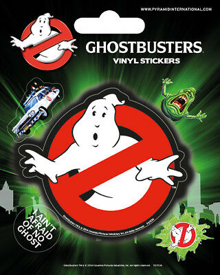 Ghostbusters Logo Vinyl Sticker Sheet 5 Piece Slimer Ghost Official Licensed