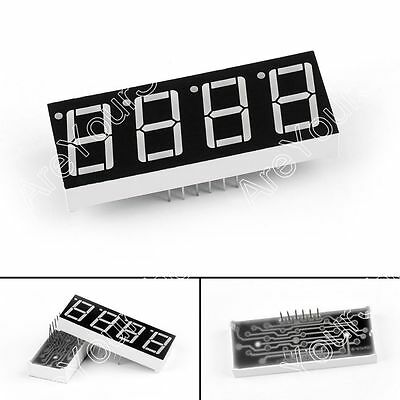 """4 Digit 7 Segment Common Cathode Red LED Display 0.56/"""" For Arduino Pi UK SELL"""