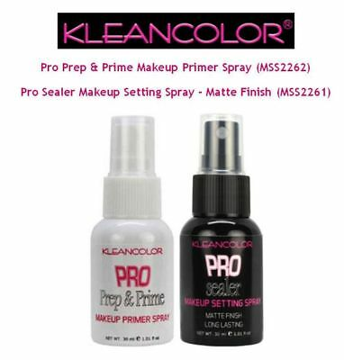 Kleancolor Pro Prep & Primer Spray, Pro Matte Setting Spray or Set ~You Choose~