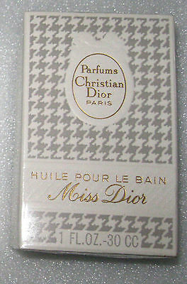 Vintage Christian Dior Miss Dior Huile Pour Le Bain 1 oz  Sealed Box Ref 6228