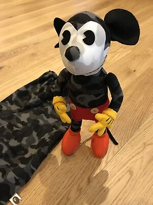 BATHING APE BAPE x DISNEY MICKEY MOUSE CAMO TOY COLLECTABLE - VERY RARE NEW MINT
