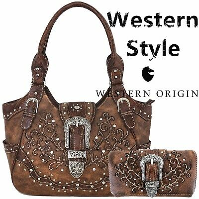 3531588c55 Western Concealed Carry Handbag Women Buckle Country Purse Shoulder Bag    Wallet