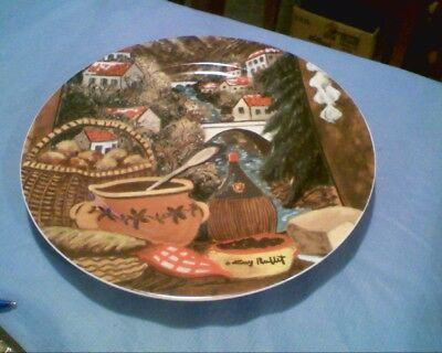 """Tuscan Seasons """"Inverno"""" Winter in Tuscany 10 3/4"""" Plate by Guy Buffet / Germany"""