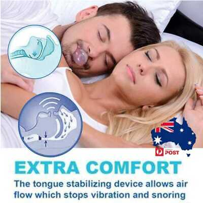 Anti Snoring Tongue Retaining Breathing Device Sleep apnoea Stop Snore