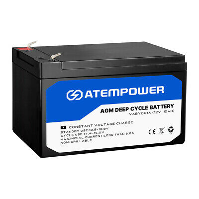 12AH 12V AGM Deep Cycle Battery Deep Cycle Batteries Camping Heavy Duty 4WD