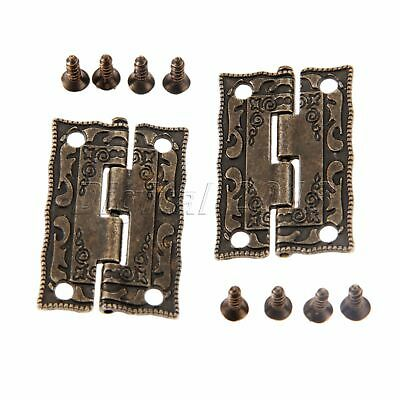 Vintage Cabinet Door Drawer Hinges Jewelry Box Furniture Butt Hinges Decorative