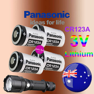 4x Panasonic CR123A Lithium 3V Battery Camera Photo Flashlight Batteries EXP2027
