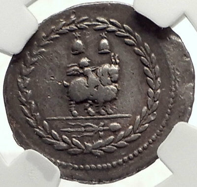 Roman Republic 85BC Ancient Silver Coin VEJOVIS & GENIUS / CUPID GOAT NGC i69112