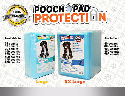 Pooch Pad Protection Training Dog Pads. Thick & Soft, XTRA Absorbent Puppy Pads.