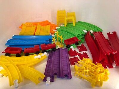 Vintage Plastic Push Along Train Set - Made in Italy