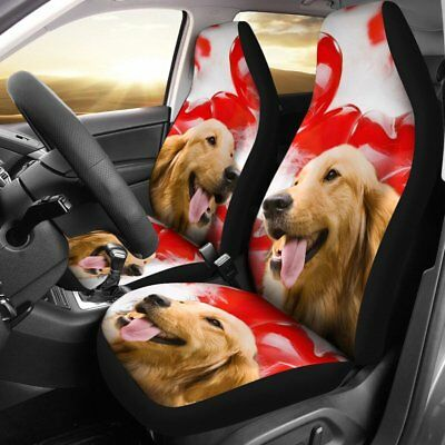 Golden Retriever Dog Print Car Seat Covers- Free Shipping