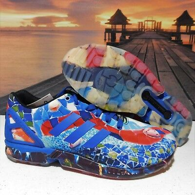 999ca4808 Mens Adidas Originals ZX Flux City Pack Barcelona Shoes Multicolor S79592
