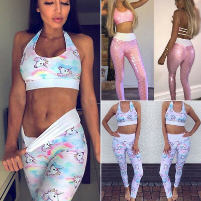 Women's Yoga Workout Pants Skinny Gym Running Fitness Leggings Athletic Clothes