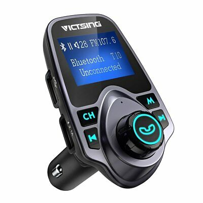 FM Transmitter Car Adaptor Wireless-Bluetooth USB Charger Audio MP3 Player Phone
