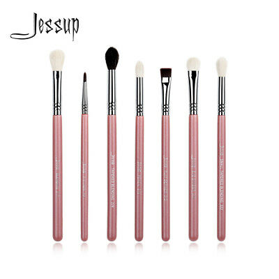 US Jessup 7Pcs Pro Eye Brushes Set Eyeliner Blending Eyeshadow Pencil Kit Pink