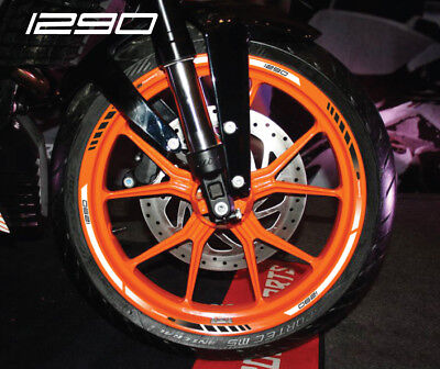 1290 Super Duke motorcycle wheel decals rim stickers for Laminated duke R