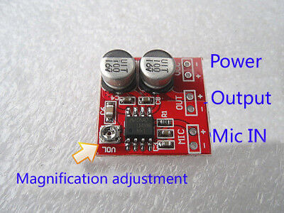 DC 5V-12V LM386 Electret Microphone Power Amplifier Board Gain 200 Times MIC Amp