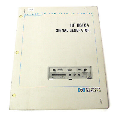 Manual Hewlett Packard 8616A HF Generator, Handbuch Operating & Service