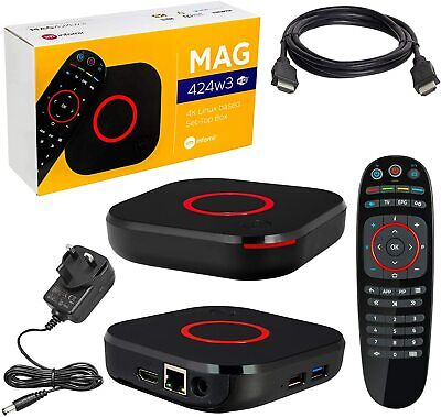 Infomir Mag 322w1 Genuine Latest Release Set-Top Box Dual Wifi  UK Asian Server