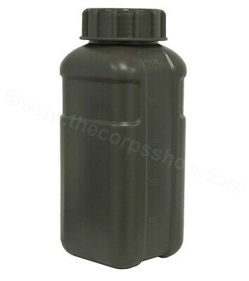 1L Decor Army Water Bottle Tactical Military Drink Flask Clear Or Khaki Bpa Free
