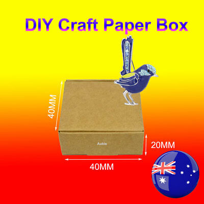 100~50 of DIY Brown Craft Paper Gift Box Boxes 4x4x2CM
