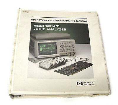Manual Hewlett Packard HP 1631A/D Logik Analysator, Operating and Programming