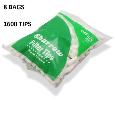 1600 Sharrow Filter Tips Kingsize 8 Packets x 200 Filter Tips