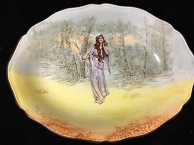 "Antique Royal Doulton Series Ware Oval Serving Bowl ""Ophelia"" 1912"