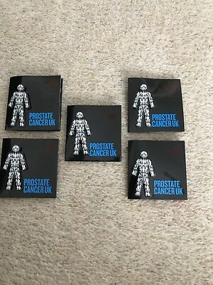 5x MEN UNITED PROSTATE CANCER UK Pin badges £14.99 **OFFICIAL PCUK FUNDRAISERS*
