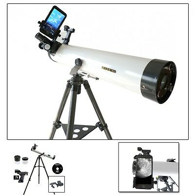 Cassini 800mm x 80mm Astronomical Telescope Smartphone Adapter