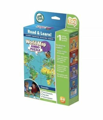 Leapfrog tag interactive world map 2 sided learning path leap frog new leapfrog leapreader interactive world map puzzle works with tag gumiabroncs Choice Image