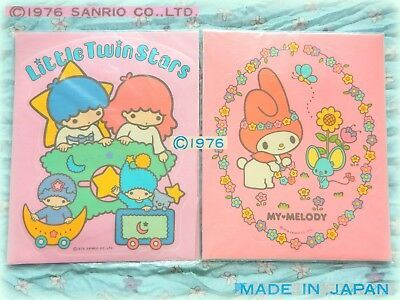 🌟 🌻 Vintage SANRIO LITTLE TWIN STARS MY MELODY 1976 MAXI Adesivi Stickers NEW
