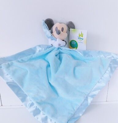 PERSONALISED MICKEY MOUSE STAR BABY TAGGY BLANKET COMFORT COMFORTER GIFT
