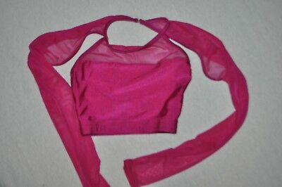 Double platinum Child size Medium  crop cranberry  dancewear  top item  N7243C