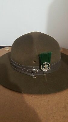 Vintage  BSA Official Boy Scouts Camp Leader Hat Size 6 7/8 Oval
