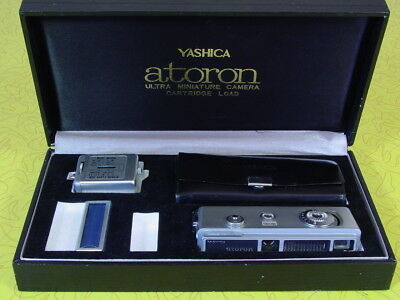 Vintage Yashica Atoron Ultra Miniature Spy Camera In Box - Excellent