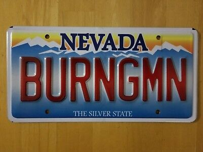 Burning Man Novelty License Plate - No tickets included
