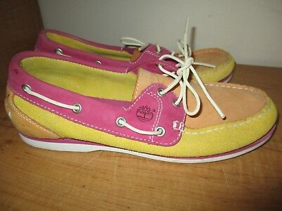 0ab1eb203e1 Timberland Boat Shoes Loafers Womens Size 8 Pink Orange - Nice - Fast  Shipping
