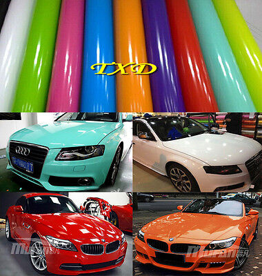 Full Roll - Auto High Glossy Vinyl For Entire Car Wrapping Film Sticker Air Free