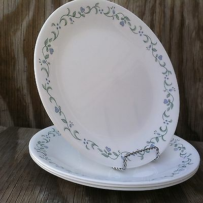 Corelle Dishes Country Cottage White Large Dinner Plates Set Of 4 & SET OF 4 Corelle \