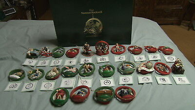 Norman Rockwell Christmas Ornament Collection Dannbury Mint Collectors Club