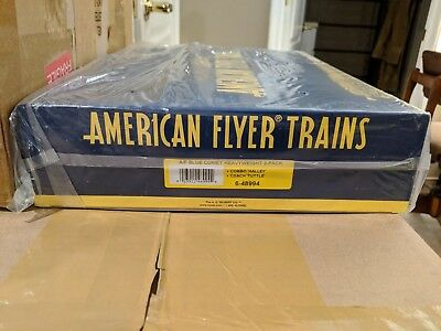American Flyer S Gauge 6-48994 Blue Comet Heavyweight 2 pack C-9 OB & SB