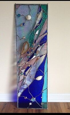 Abstract Stained Glass Window Contemporary Divider Transom Modern Panel